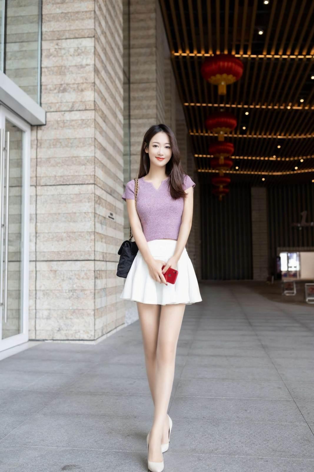 第170期充满活力的妹子唐安琪(jk裙,露脐装,高跟,肉丝)_图片2