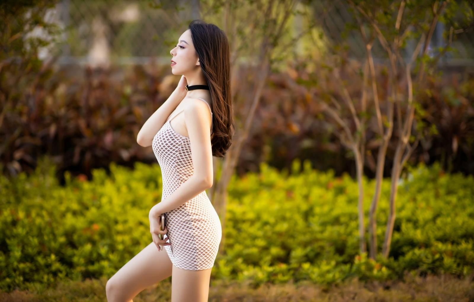 第227期婀娜多姿如柳叶言沫(高跟,连衣裙,丝袜,肉丝,大长腿)_图片4