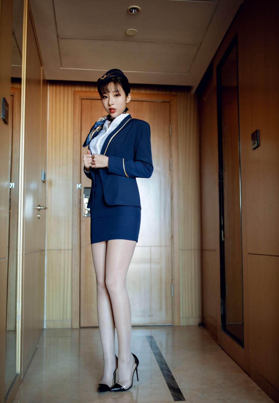 第354期惠质兰心陈小喵(空姐制服,肉丝,高跟,高颜值,美腿)_图片2