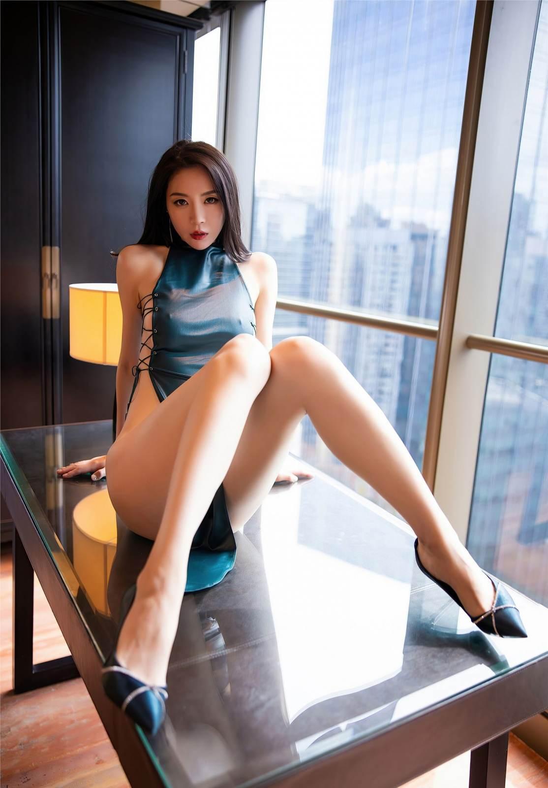第359期芸芸众生赞,飘飘仙子舞梦心月(高跟,旗袍,大长腿,高挑)_图片5