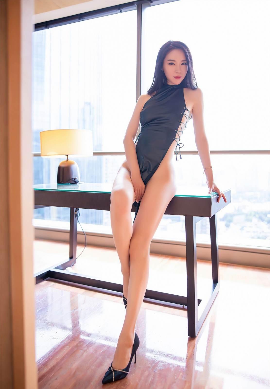 第359期芸芸众生赞,飘飘仙子舞梦心月(高跟,旗袍,大长腿,高挑)_图片8